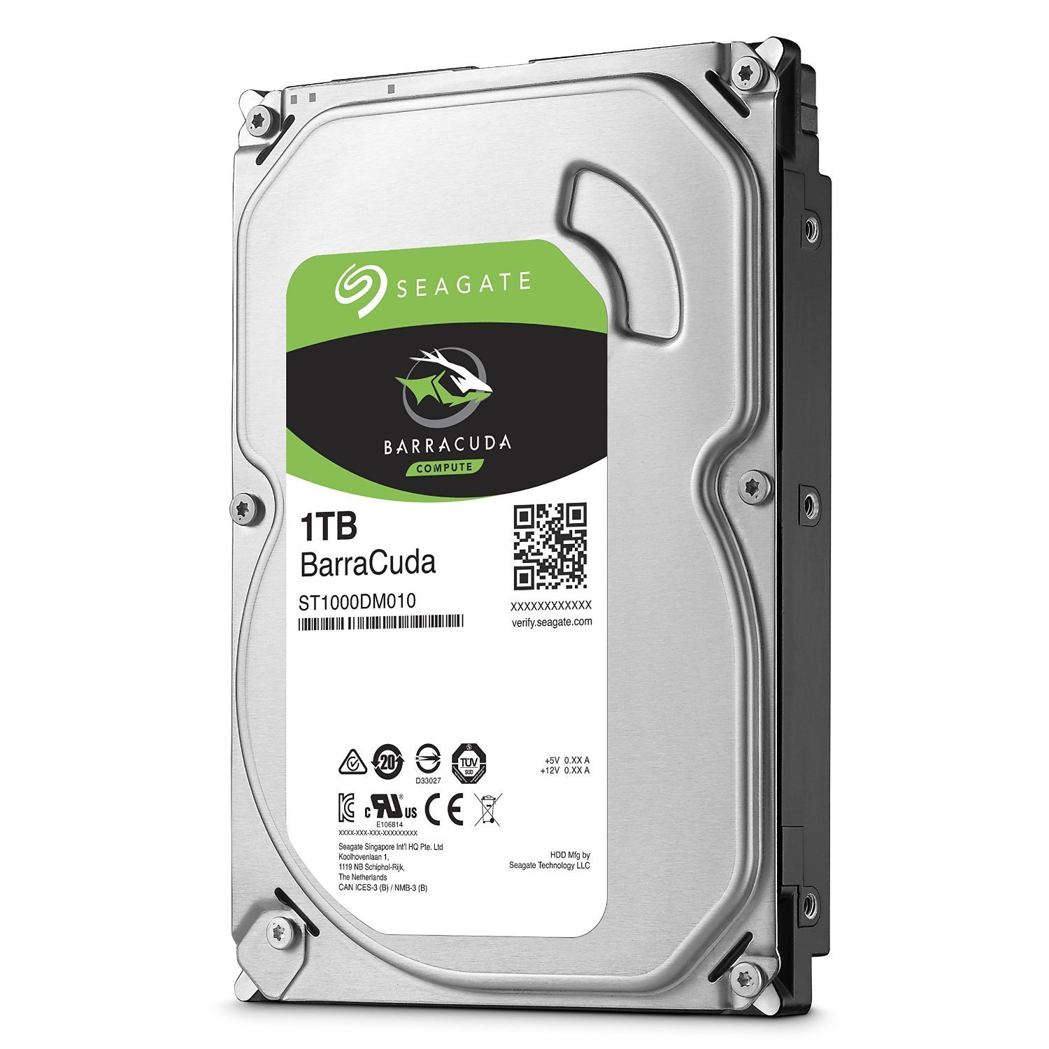 "Seagate 1TB BarraCuda 3.5"" 7200 RPM Internal Hard Drive 64MB SATA 6 GB/s"